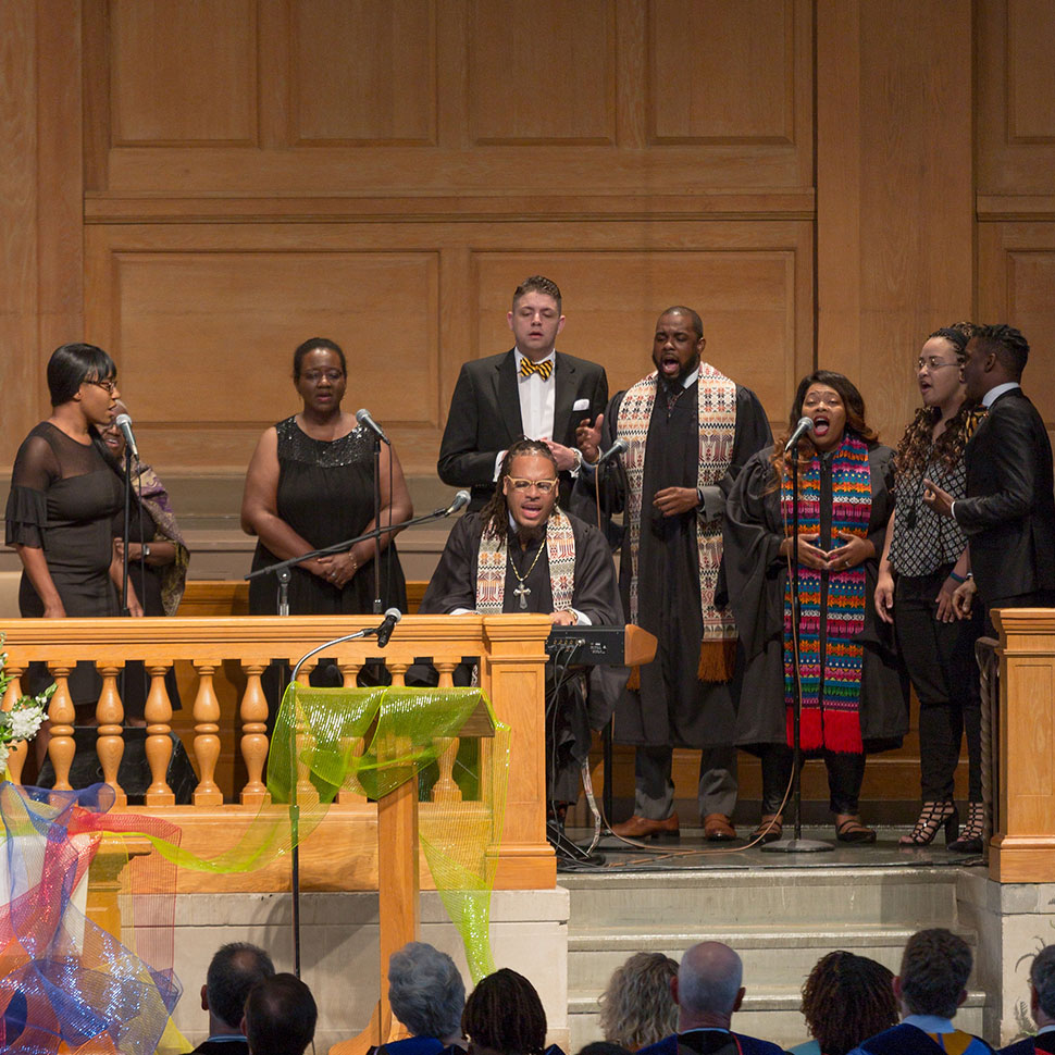 The School of Divinity celebrates the Class of 2018 during the Hooding Ceremony in Wait Chapel on Saturday, May 19, 2018.