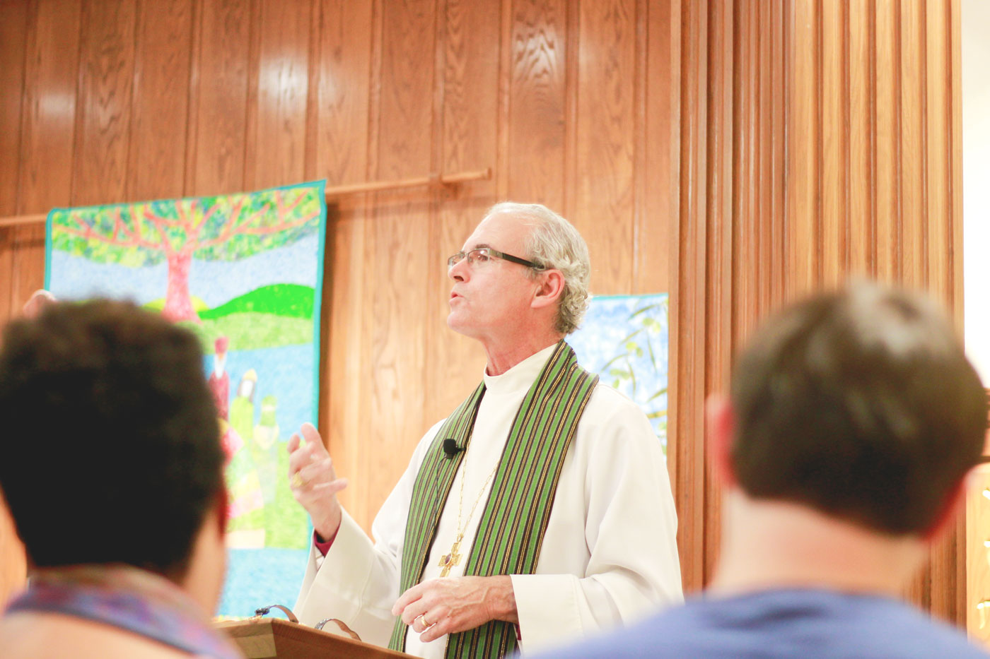 The Rt. Rev. Dr. Porter Taylor leads School of Divinity Community Worship on October 19, 2017 in Davis Chapel