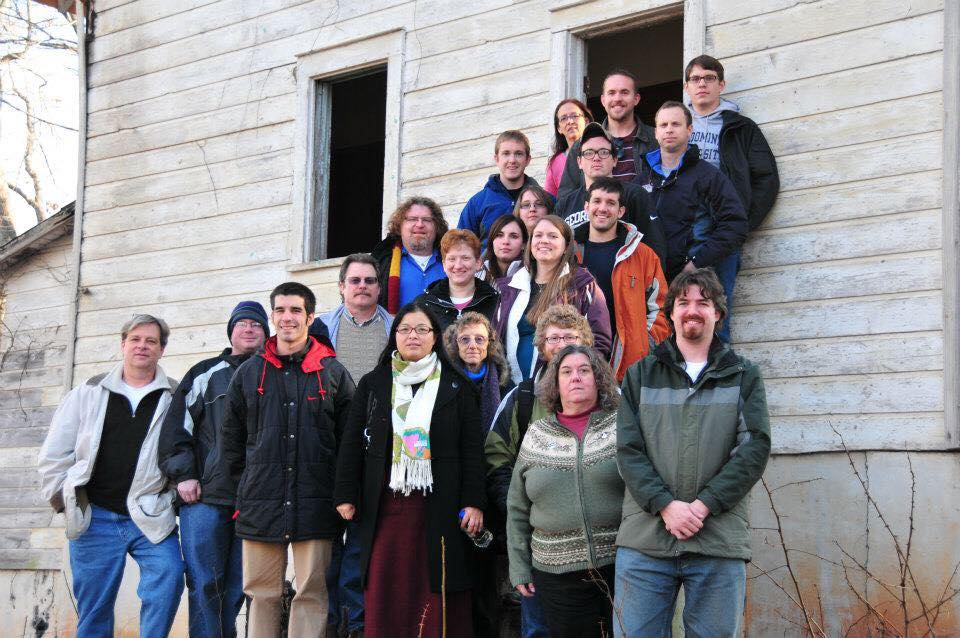 Rev. Cheek (front center, fourth from right) with the 2012 participants of the Appalachia cross-cultural connection travel course