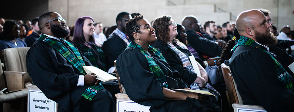 The Class of 2019 celebrates its Hooding Ceremony on Saturday, May 18 in Wait Chapel.