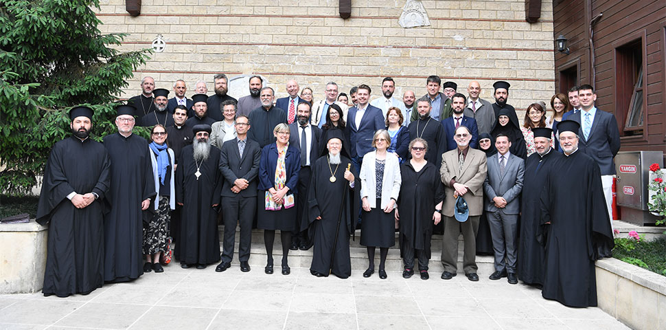 An international group of fifty participants representing forty different institutions, including theologians, activists, scientists, journalists, business leaders, and academics durng the Halki Summit III in Istanbul, Turkey