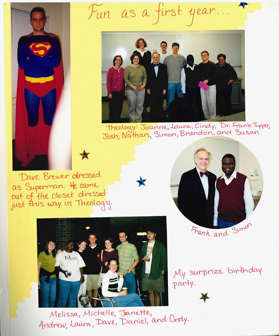 Scan of page from a scrapbook of 2003 alum Laura Mayo