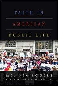 Cover Art for Faith in American Public Life by Melissa Rogers