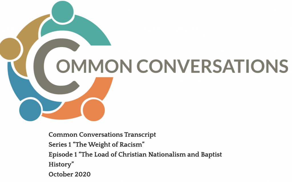 Common Conversations Series 1 Episode 1 Transcript