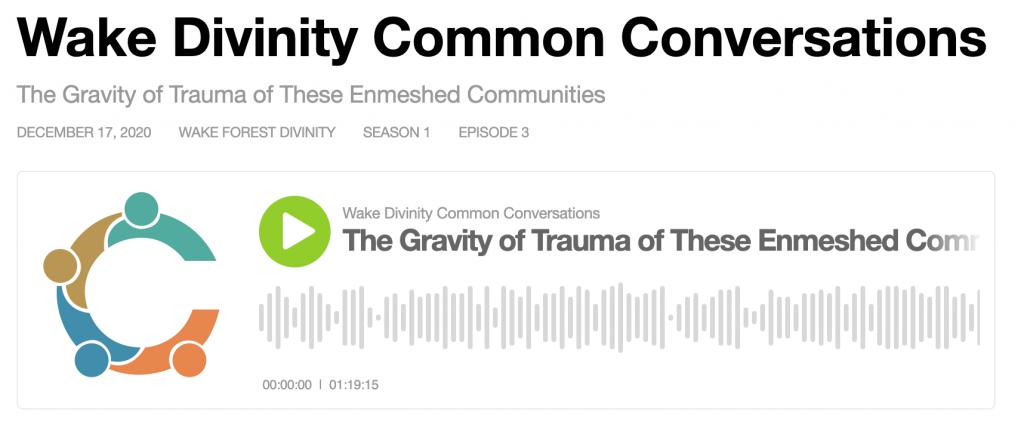 Common Conversations Series 1 Episode 3 Audio
