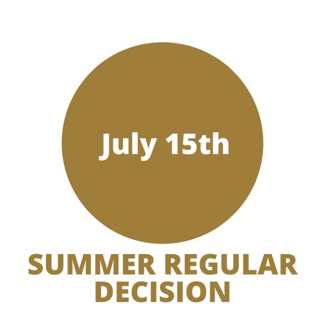 Summer regular decision