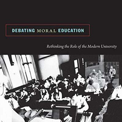 Debating Moral Education book cover