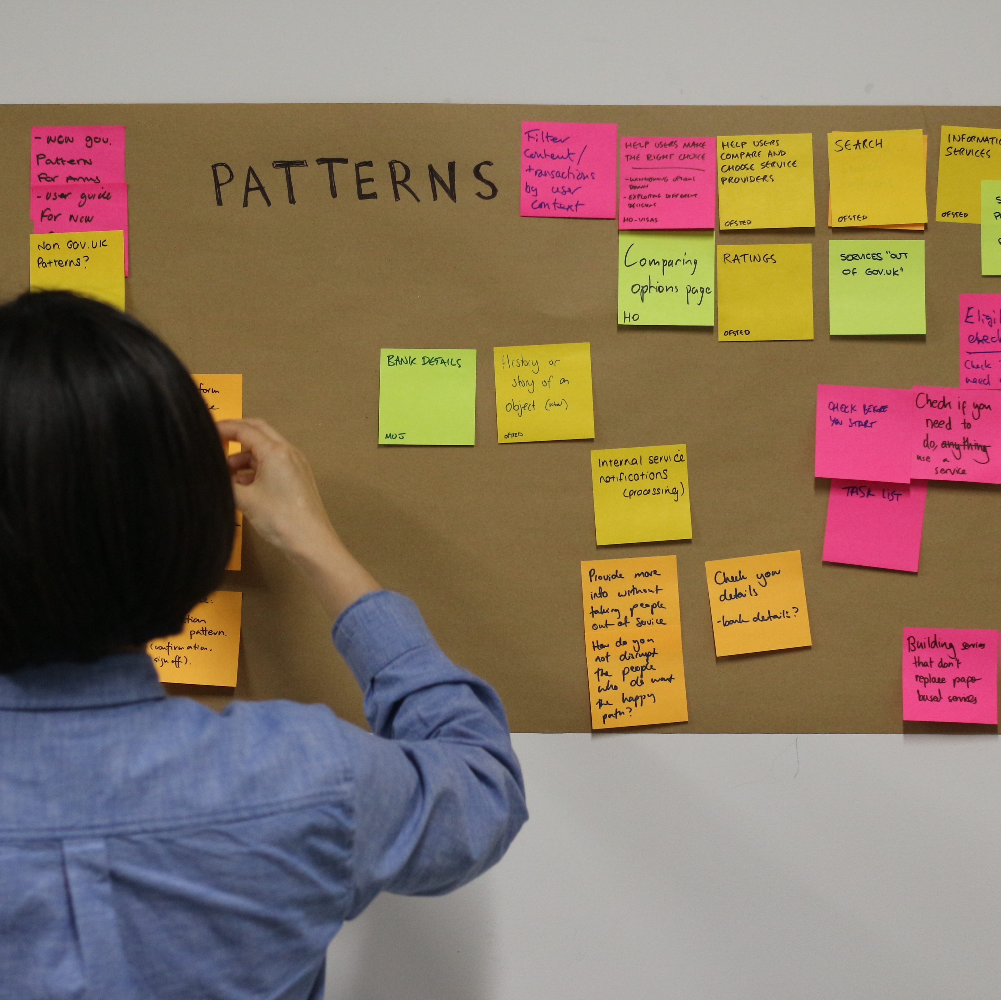 Post-it note patterns