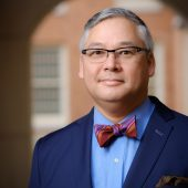 A portrait of Wake Forest sociology professor David Yamane in his office in Kirby Hall on Friday, January 13, 2017.