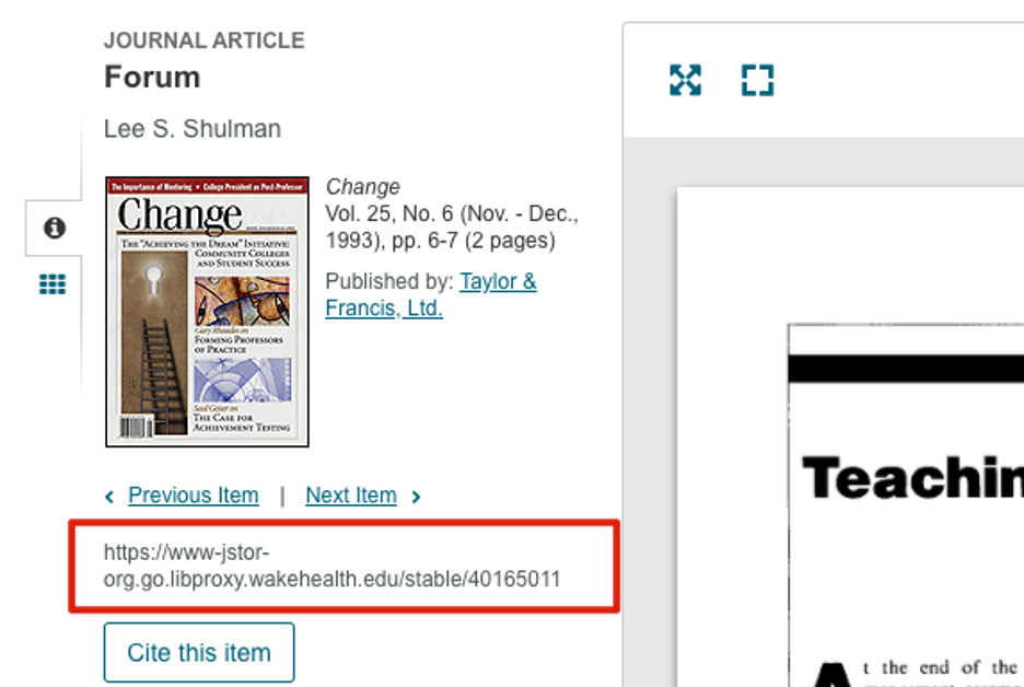 how to link jstor