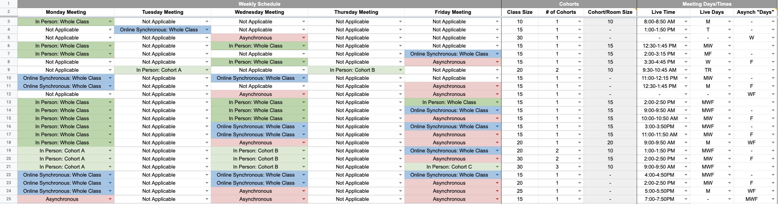planner screenshot