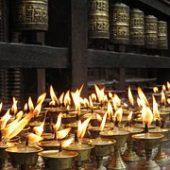 flickering candles