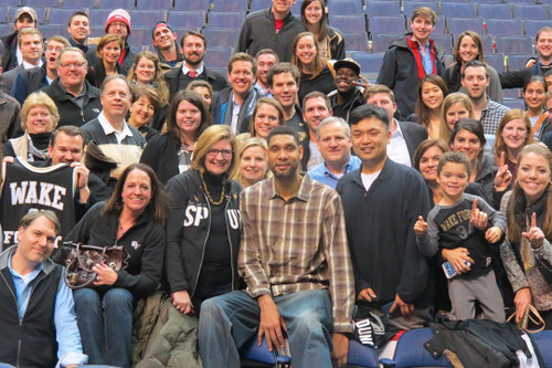 Alumni greet NBA all-time great Tim Duncan ('97)