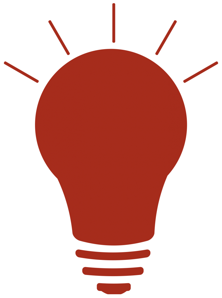 Lightbulb icon, Red