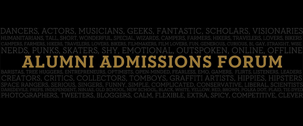 Alumni in Admissions header