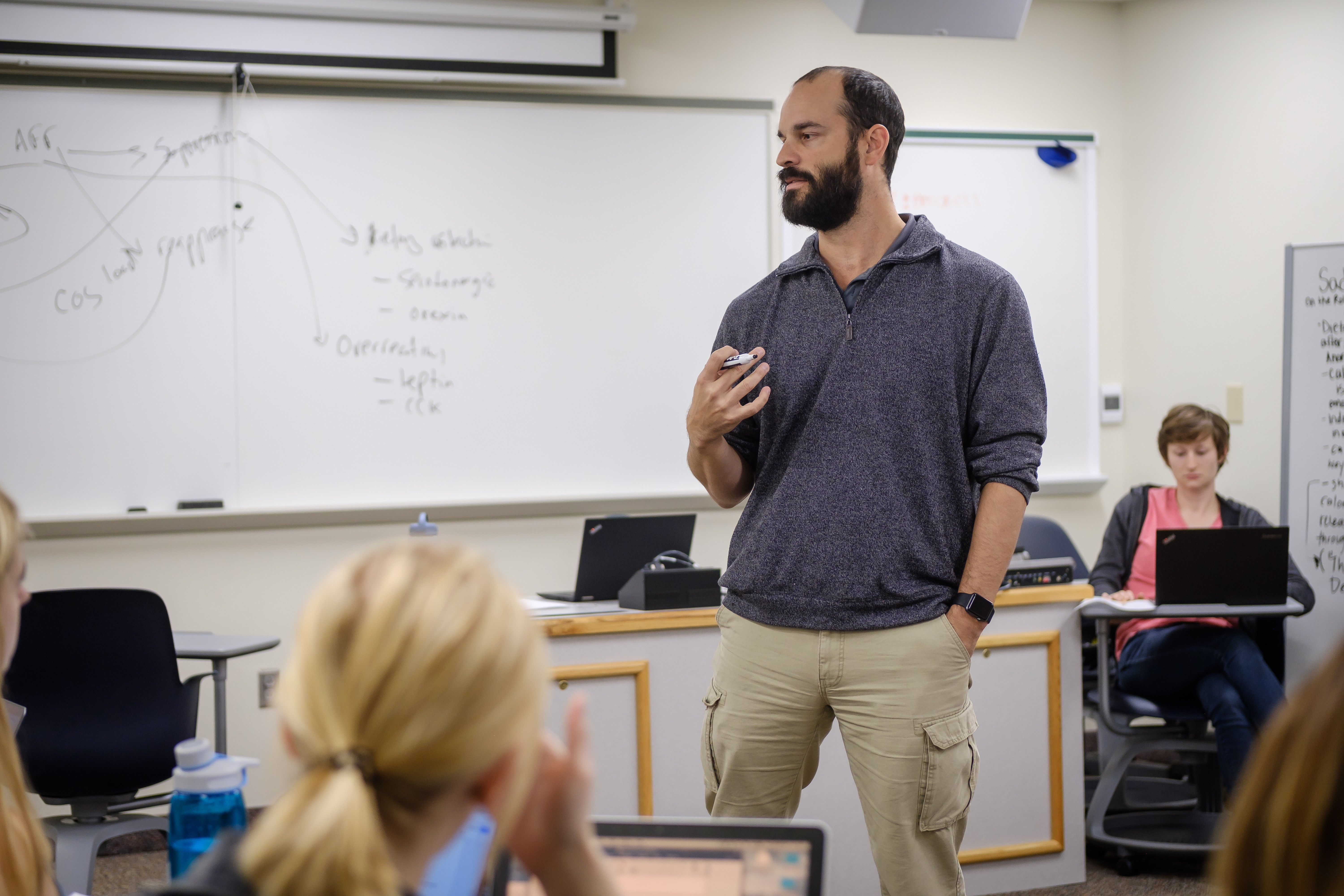 Wake Forest psychology professor teaches his class on emotions in Greene Hall on Thursday, November 30, 2017.