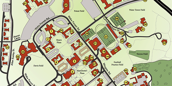 Wake Forest Map Campus Map & Directory | About Wake Forest