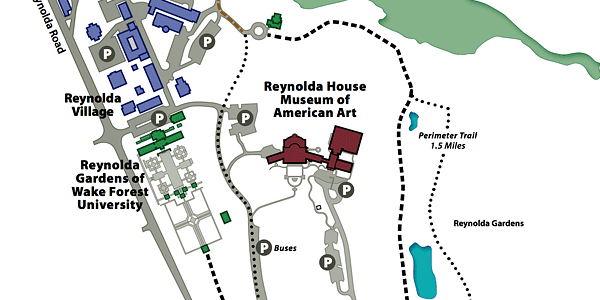 Reynolda Historic District Map