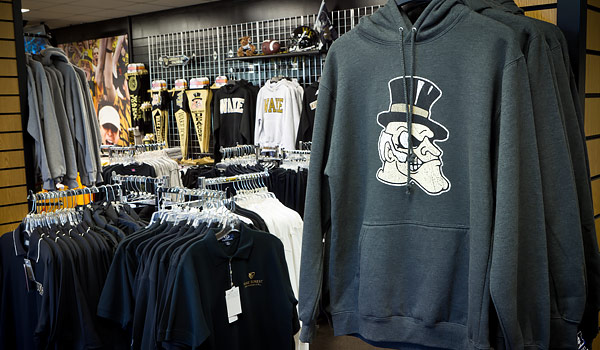 The Deacon Shop on the Quad, on the campus of Wake Forest University