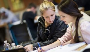 Wake Forest students study in the Z. Smith Reynolds Library