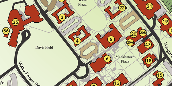 Wake Forest Campus Map Maps | About Wake Forest | Wake Forest University