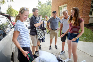 Wake Forest first year students move into their residence halls on south campus