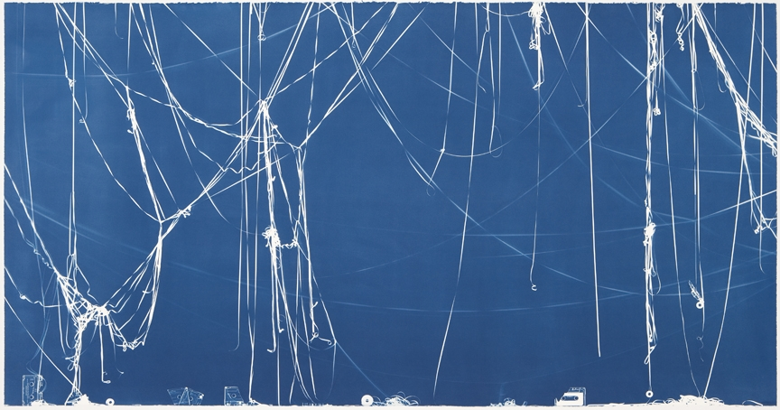 Christian Marclay Memento (Hearing is Believing), 2008 <br> Cyanotype © Christian Marclay