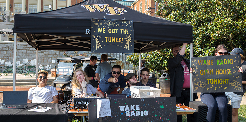 Wake Radio at the Fall Student Involvement Fair