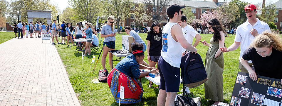 Get Involved at WFU with a Personalized Involvement Plan