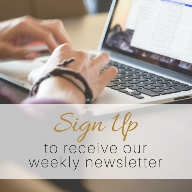 Receive Our Weekly Newsletter