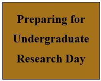 Preparing for Research Day