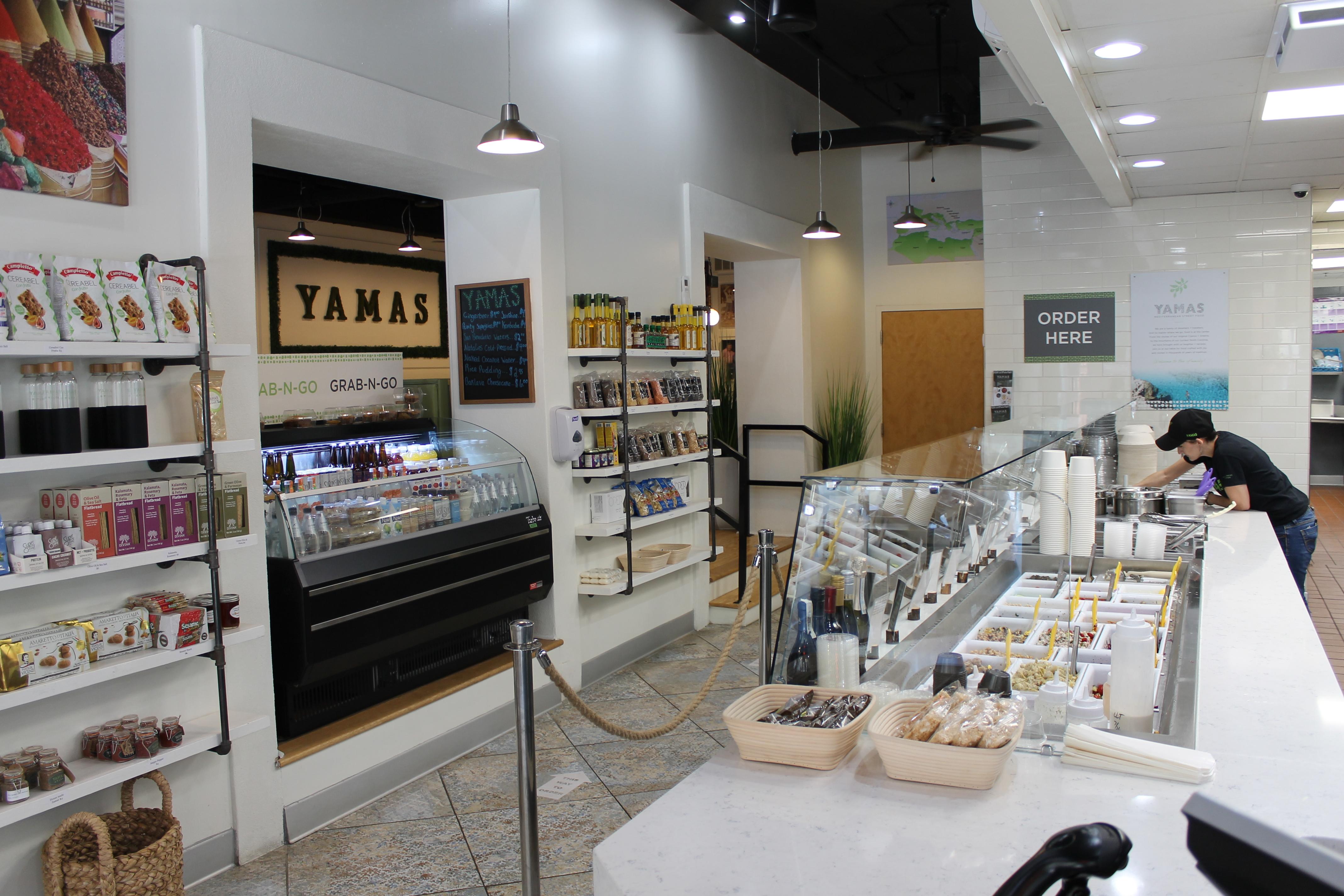 interior view of yamas foo line