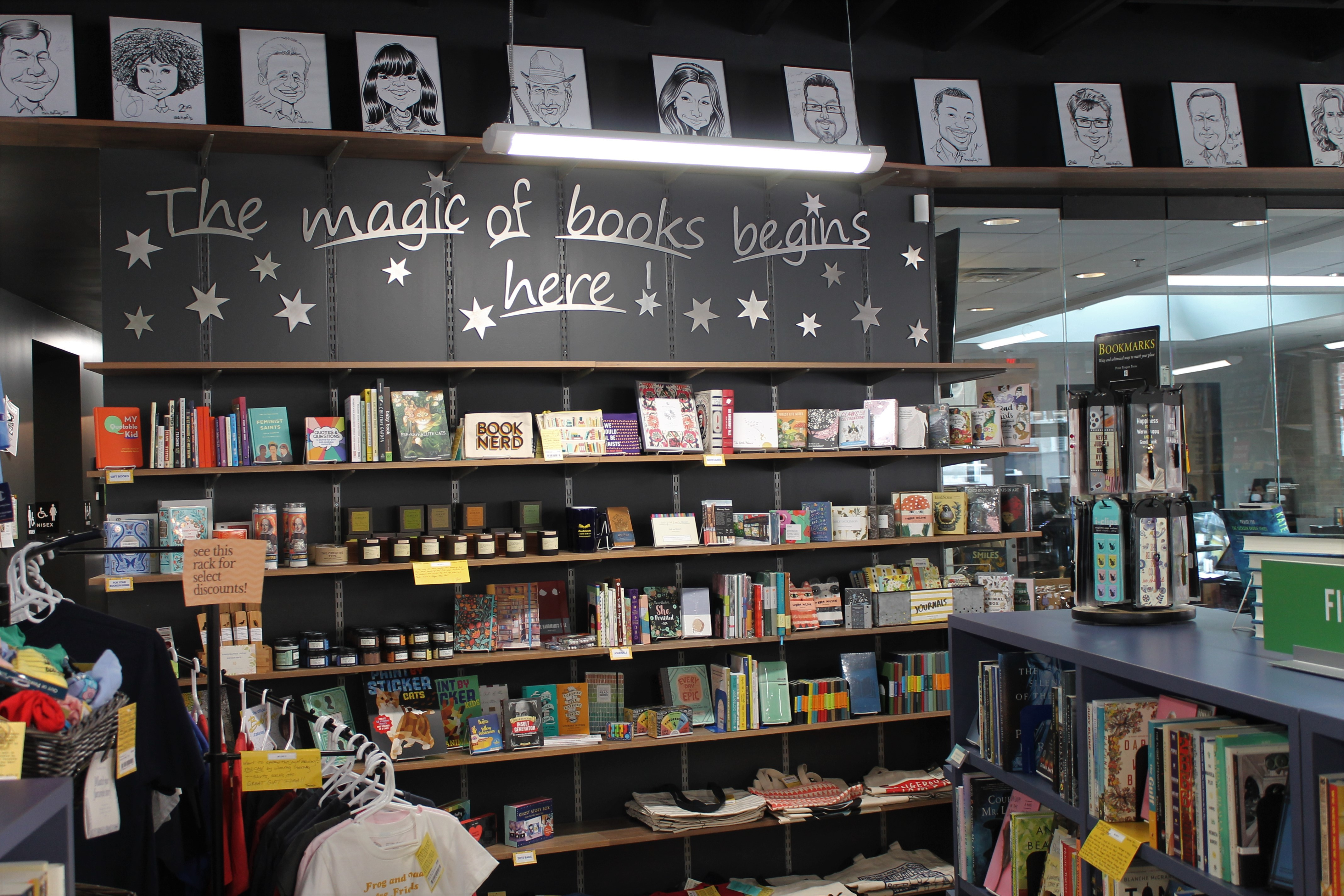 The magic of books begins here on wall!