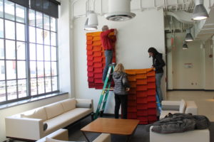 Joy Rushfelt Ribbons Installation
