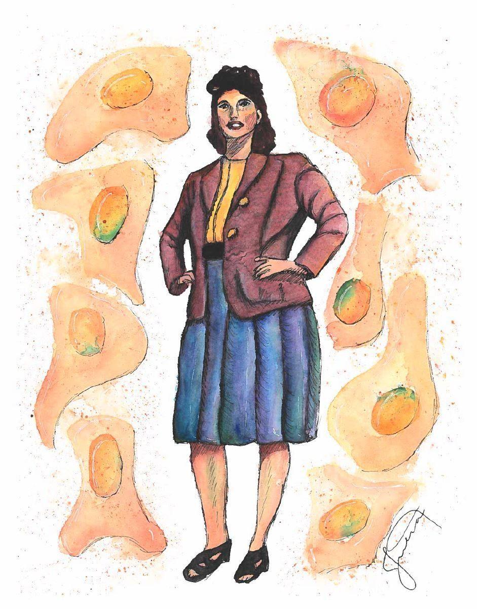 watercolor painting of Henrietta Lacks