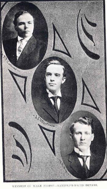 1908 Randolph-Macon Debaters