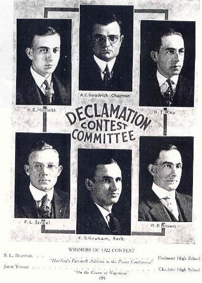 1922DeclamatoinContestCommittee