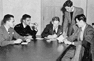 Zon Robinson Coaching in 1941 ('42?) (seated, 3rd from Left)