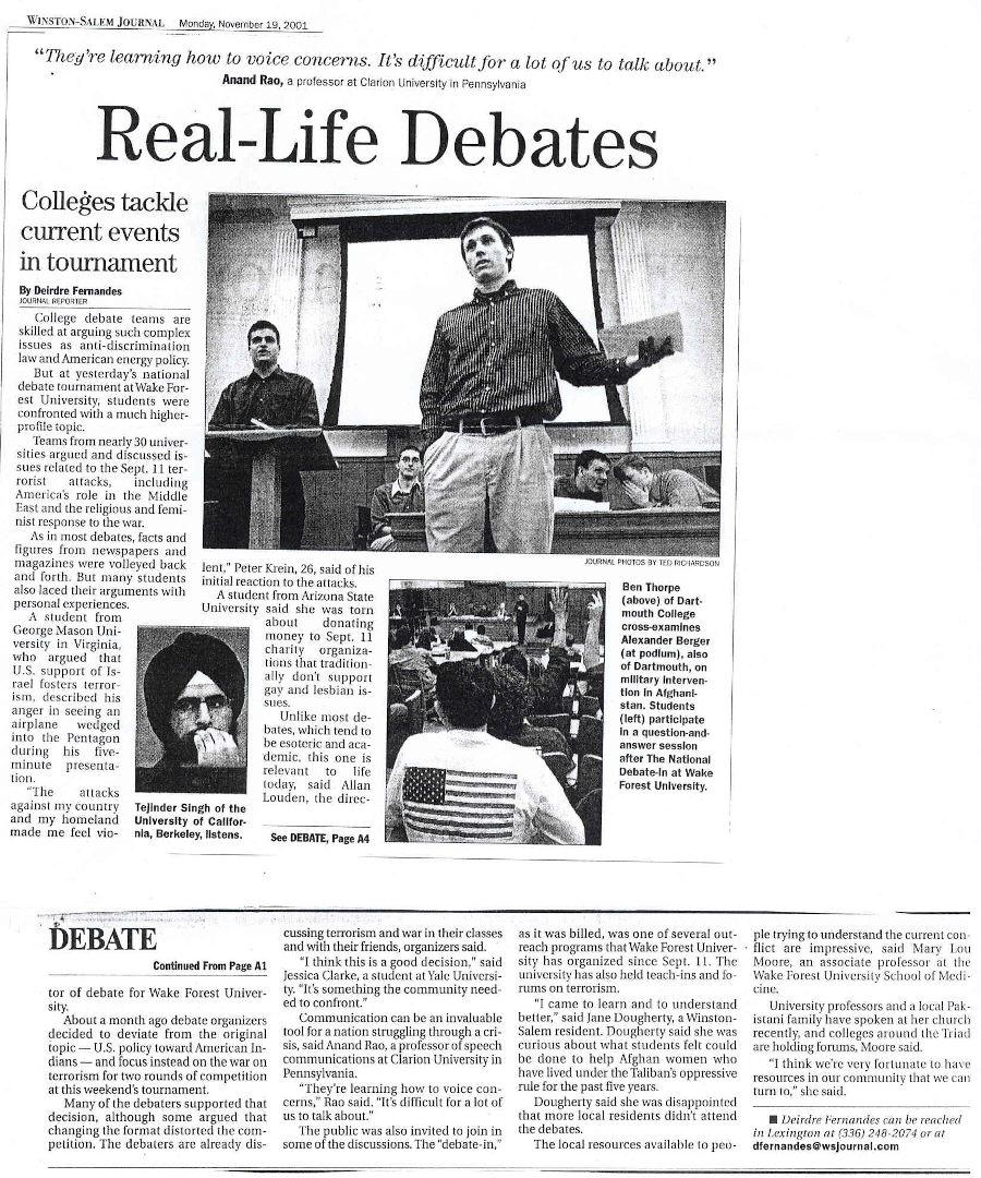 DebateInNewspaper