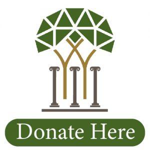 Donate Here and Eudaimonia logo and greek columns