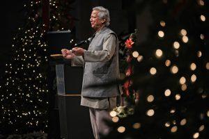 Muhammad Yunus on stage