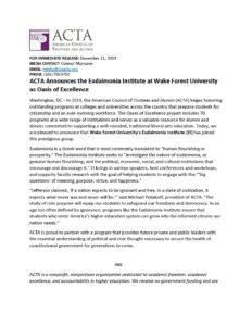ACTA Announcement