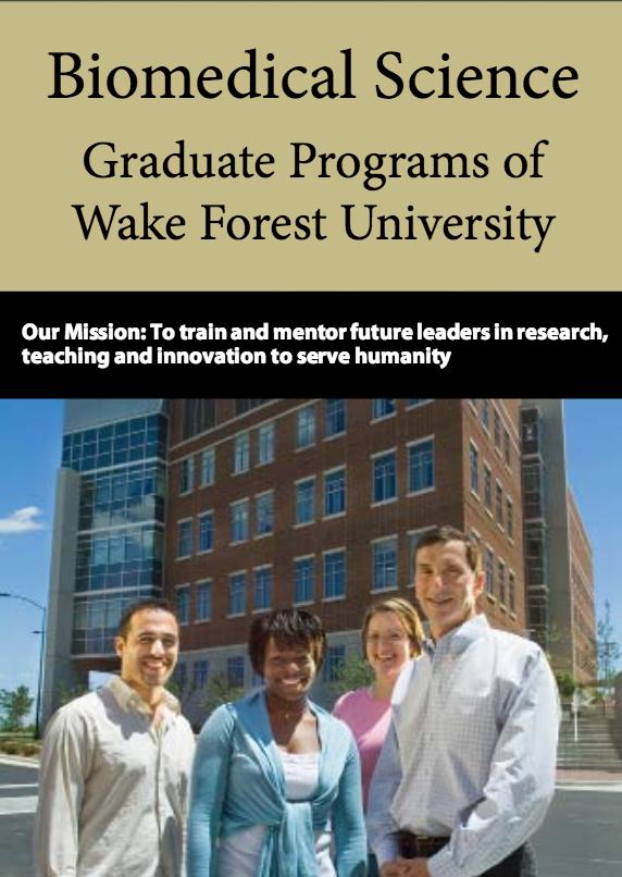 Biomedical Science Graduate Programs Brochure