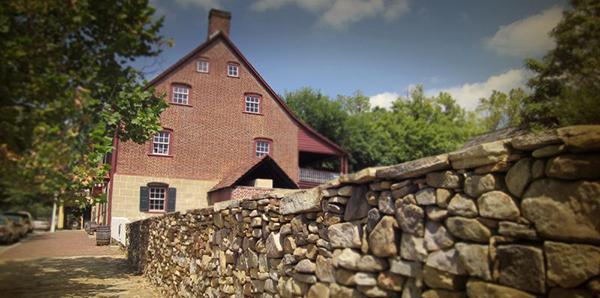 Old Salem stone wall