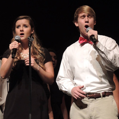 Student perform at WFU Family Weekend Student A Cappella Concert