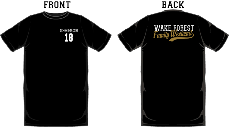WFU Family Weekend short sleeve, black