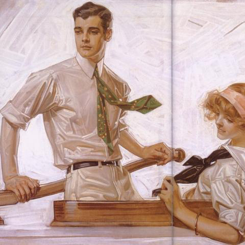 Leyendecker and the Golden Age of American Illustration is the featured exhibition at Reynolda House during Family Weekend 2019
