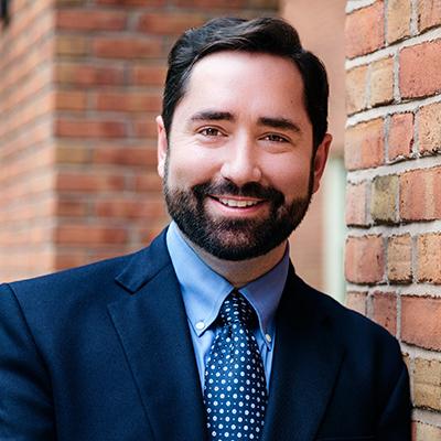 Dr Jake Ruddiman, Associate Professor of History at WFU, headshot