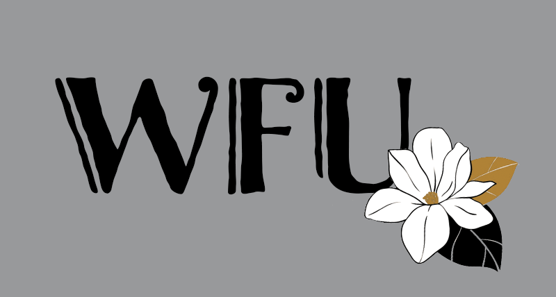 Front pocket design for Family Weekend 2021 t-shirts shows a magnolia flower