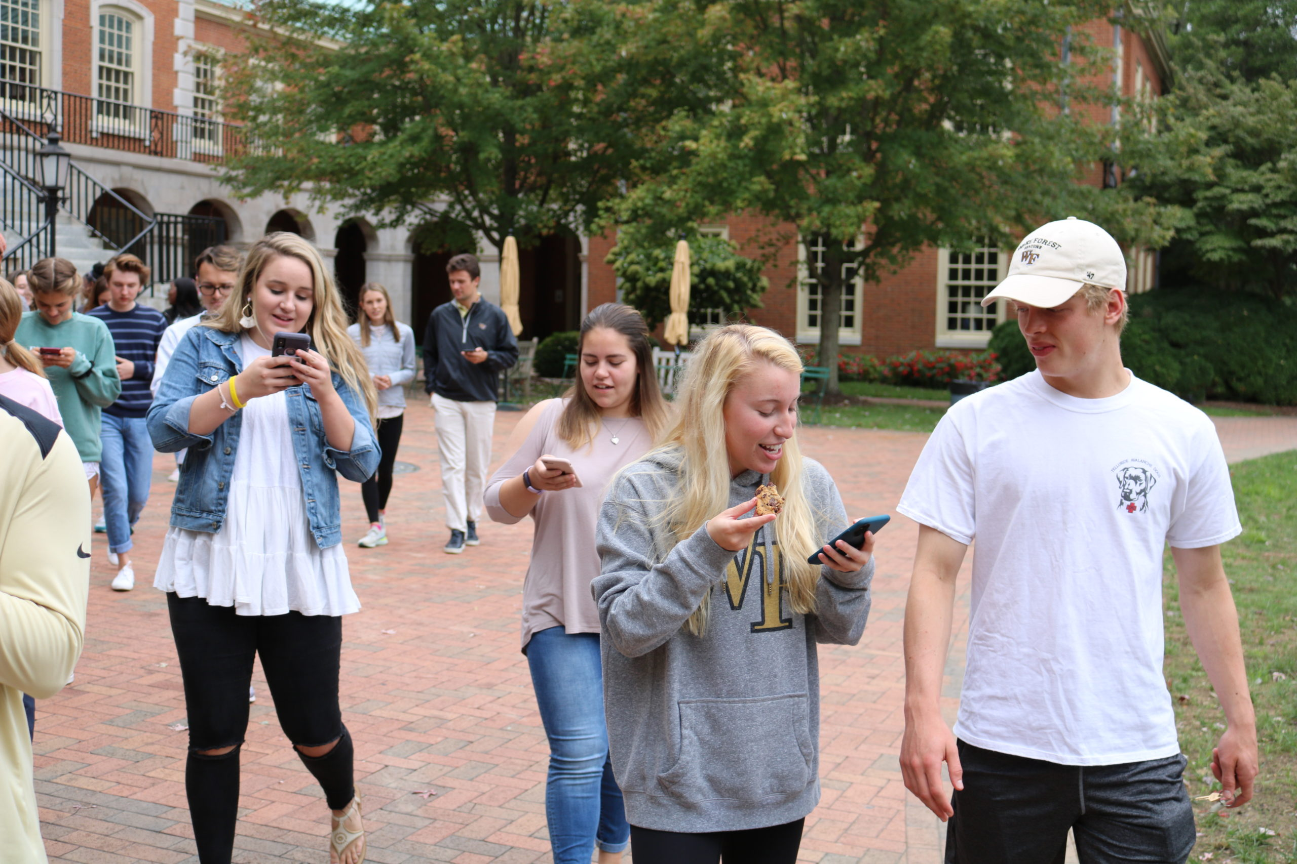 student participating in senate retreat